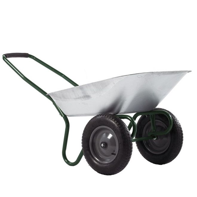 85 Litre Twin Kit Wheelbarrow Galvanised Tray