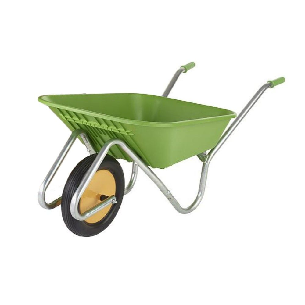 90 Litre Wheelbarrow Handibarrow Lime Plastic Tray