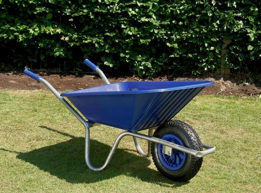 County Clipper Wheelbarrow | Garden Wheelbarrow Blue Tray