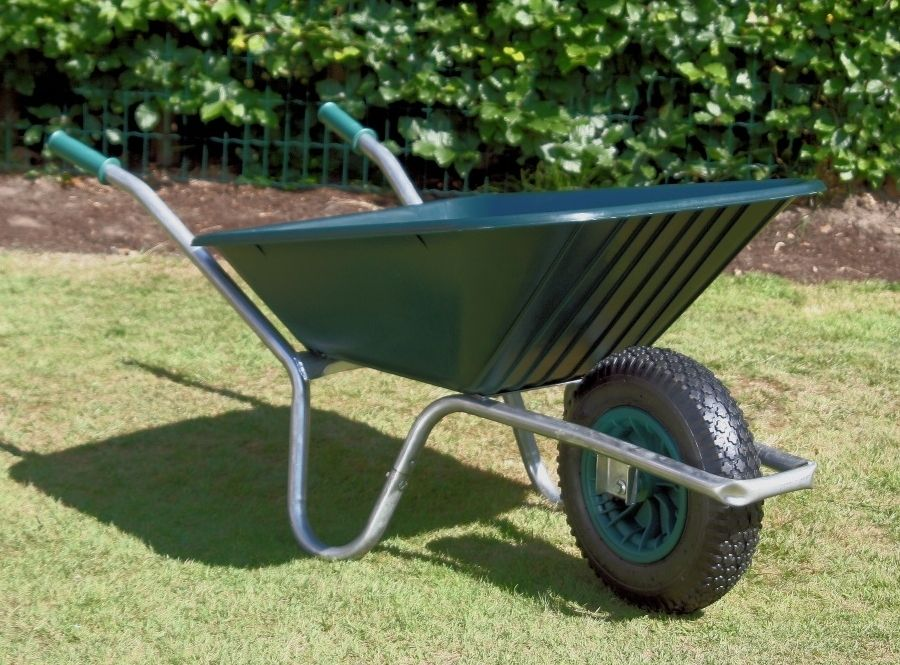 County Clipper Wheelbarrow | Plastic Wheelbarrow Green Tray