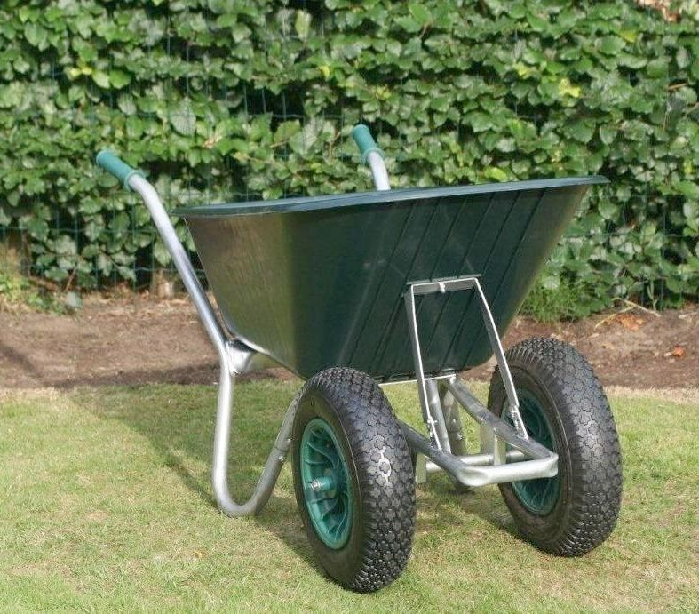County Cruiser Duo Wheelbarrow | Garden Wheelbarrow Green