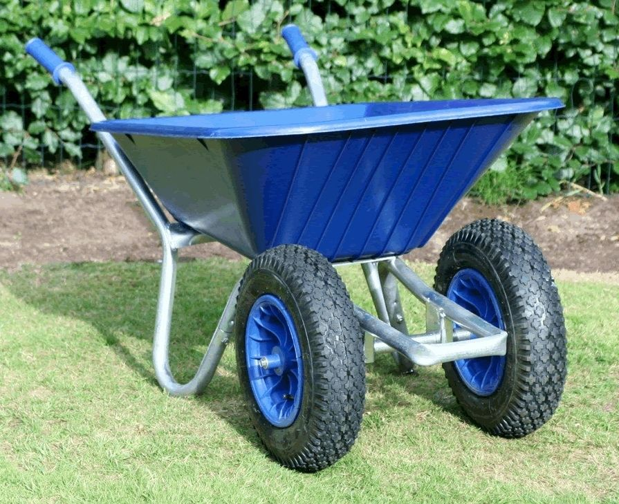 County Duo Clipper Wheelbarrow Blue | Twin Wheel Wheelbarrow