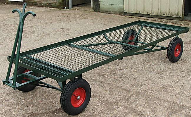 Extra Long Turntable Truck |  8ft Mesh Bale Trolley