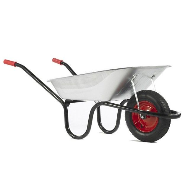 Galvanised Chasseur Wheelbarrow 90 Litre Steel Tray