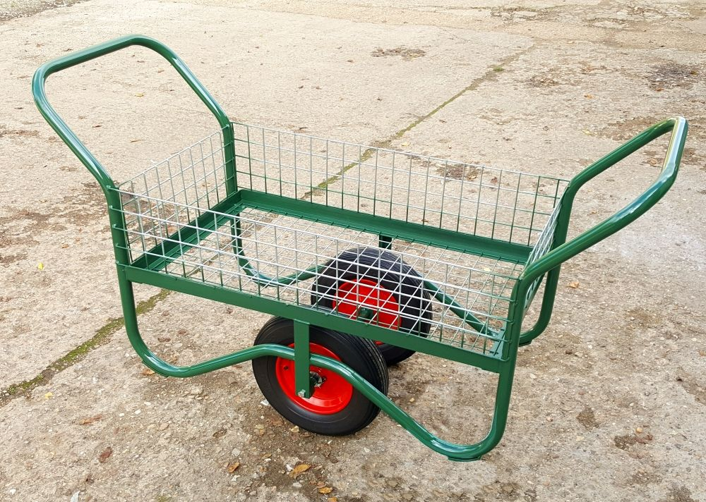 Garden Centre Trolley With Mesh Base & Sides