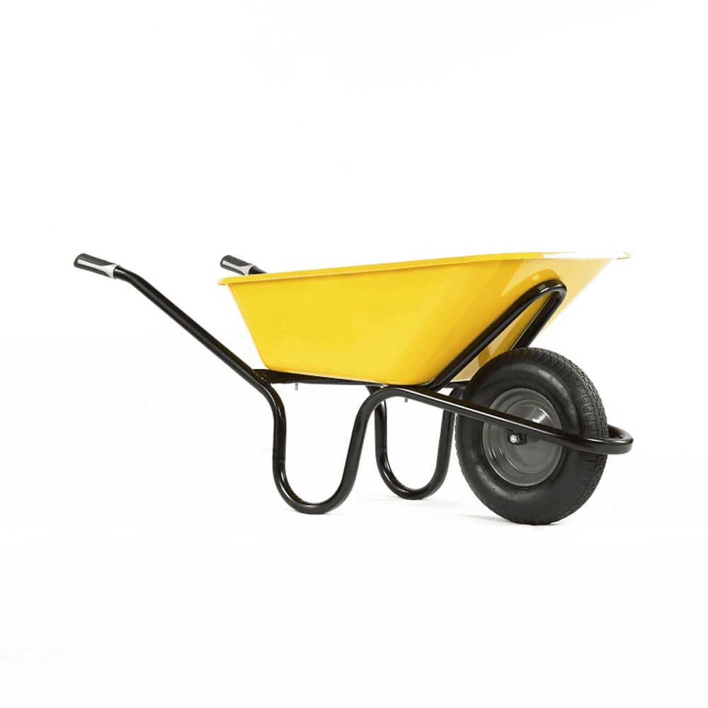 Heavy Duty Wheelbarrow Alpha Original Yellow 90L Tray 1041