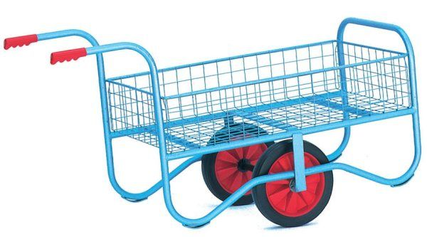 Trolley With Mesh Base & Sides Garden Centre Trolley